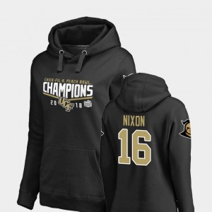 UCF Knights Black For Women Tre Nixon College Hoodie 2018 Peach Bowl Champions Goal #16