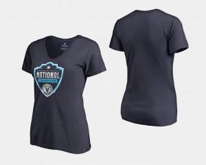 Ladies 2018 Champs Cut Official Logo Basketball National Champions Nova Navy College T-Shirt