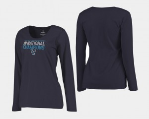 Basketball National Champions Villanova Wildcats Women's 2018 Dribble Long Sleeve Navy College T-Shirt