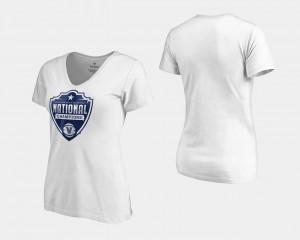 Nova Basketball National Champions College T-Shirt White 2018 Cut V-Neck Women's