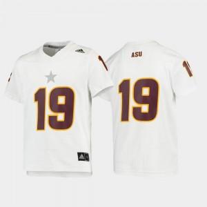 Football White ASU College Jersey Kids Replica #19