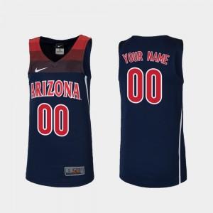 College Customized Jerseys Navy #00 Kids Basketball Replica Arizona Wildcats