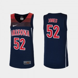 For Kids Replica University of Arizona Kory Jones College Jersey #52 Basketball Navy