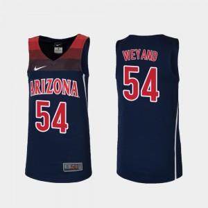 Kids Matt Weyand College Jersey Basketball Navy #54 Arizona Wildcats Replica
