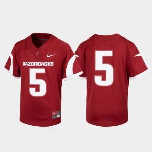#5 Cardinal University of Arkansas Untouchable Youth(Kids) College Jersey Football
