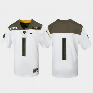 USMA Limited Edition Replica For Kids College Jersey 1st Cavalry Division #1 White