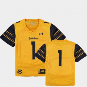 Football College Jersey #1 Finished Replica Gold Golden Bears Youth