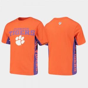 Youth Side Bar Clemson College T-Shirt Orange