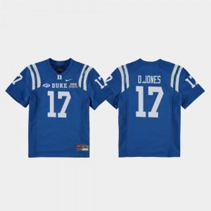 Royal Daniel Jones College Jersey Duke University Football Game Youth(Kids) 2018 Independence Bowl #17