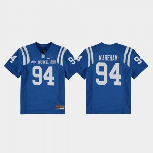Football Game Duke Royal 2018 Independence Bowl For Kids Collin Wareham College Jersey #94