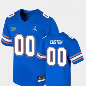 Game Youth #00 University of Florida College Custom Jerseys Football Royal