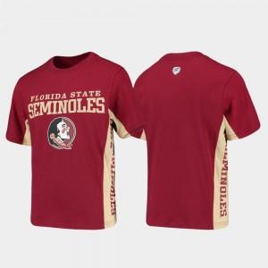 Florida State Seminoles College T-Shirt For Kids Garnet Side Bar