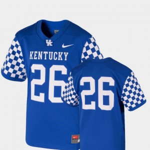 College Jersey #26 Wildcats Football Royal Youth Team Replica