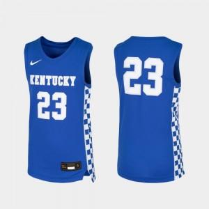 Royal Kentucky Kids Basketball #23 College Jersey Replica
