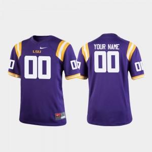 Football College Custom Jerseys Purple #00 For Kids Tigers