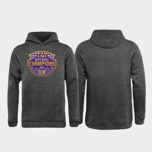 College Hoodie Football Playoff Encroachment LSU For Kids 2019 National Champions Heather Gray
