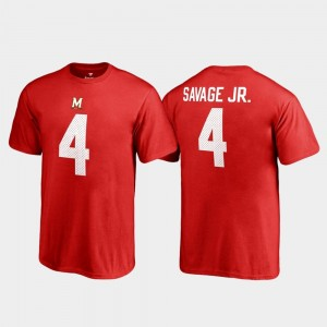 Red Legends Terrapins For Kids Darnell Savage Jr. College T-Shirt #4 Name & Number