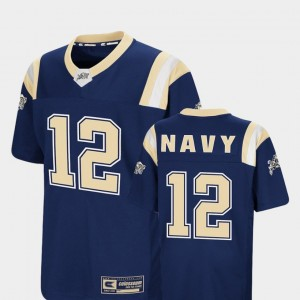Navy Foos-Ball Football Colosseum Navy #12 For Kids College Jersey