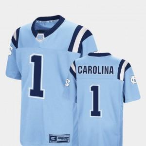 Youth College Jersey Colosseum Carolina Blue #1 UNC Foos-Ball Football