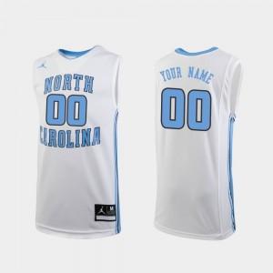 For Kids White College Custom Jerseys Replica #00 North Carolina Tar Heels Basketball