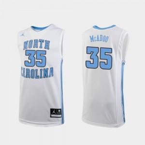 White Replica Youth(Kids) Basketball #35 Ryan McAdoo College Jersey UNC