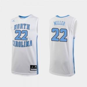 #22 Kids Replica Walker Miller College Jersey White Tar Heels Basketball