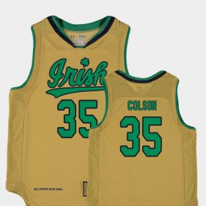 Replica UND Youth Bonzie Colson College Jersey #35 Basketball Special Games Gold