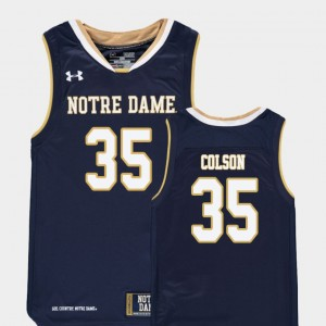University of Notre Dame Basketball Youth #35 Replica Bonzie Colson College Jersey Navy