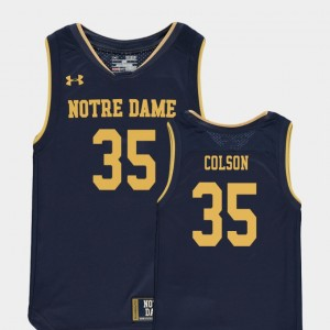 Basketball Special Games Navy ND Youth Bonzie Colson College Jersey #35 Replica