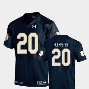 C'Bo Flemister College Jersey Notre Dame Fighting Irish Navy #20 Replica Football For Kids