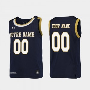 Replica Navy College Custom Jersey Notre Dame Youth(Kids) Basketball #00