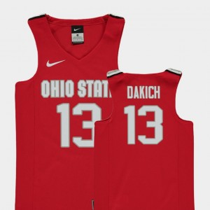 Replica Basketball Kids Andrew Dakich College Jersey Red Ohio State #13