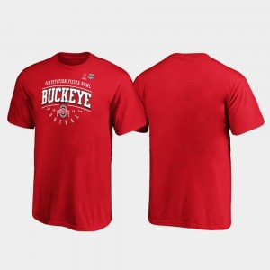 2019 Fiesta Bowl Bound College T-Shirt For Kids Ohio State Buckeyes Tackle Scarlet