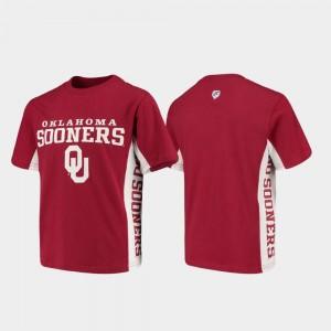 Crimson College T-Shirt Side Bar Kids University Of Oklahoma