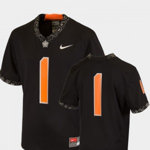 Youth(Kids) Oklahoma State Football #1 Team Replica College Jersey Black
