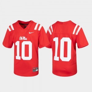 Untouchable #10 Youth(Kids) Red College Jersey Football Ole Miss