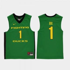 Green UO For Kids Basketball #1 Bol Bol College Jersey Replica