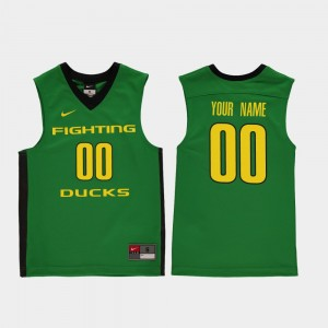 Replica #00 College Custom Jerseys Green Basketball Kids UO