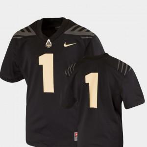 Black Team Replica College Jersey For Kids Purdue Boilermakers #1 Football