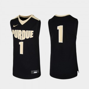 Youth Basketball Replica Black Boilermaker College Jersey #1