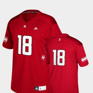 Scarlet #18 Replica Rutgers Scarlet Knights College Jersey Football For Kids
