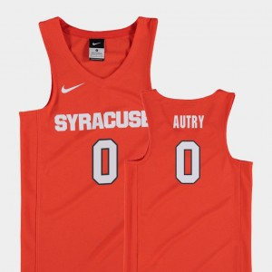 Youth(Kids) #0 Adrian Autry College Jersey Basketball Replica Orange Cuse Orange