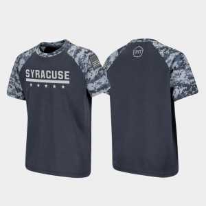 Youth Charcoal Syracuse Orange College T-Shirt OHT Military Appreciation Raglan Digital Camo