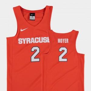 Replica Orange Basketball #2 Matthew Moyer College Jersey Orange Kids