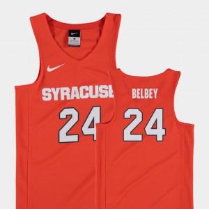 Youth(Kids) Cuse Replica #24 Basketball Shaun Belbey College Jersey Orange