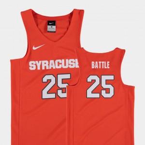 #25 Tyus Battle College Jersey Syracuse For Kids Basketball Replica Orange