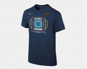 Navy 2018 Locker Room Youth College T-Shirt Villanova Wildcats Basketball National Champions