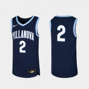 Wildcats Youth #2 Navy College Jersey Replica Basketball