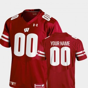 2018 Replica University of Wisconsin Youth #00 Football College Customized Jersey Red